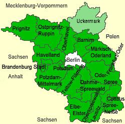 Det von Arnimske kerneland Uckermark ligger nordøst for Berlin på grænsen til Polen