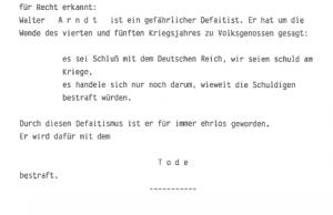Professor Arndt - en defaitist.