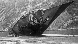 Bernd von Arnim (destroyeren - ikke manden) efter tyskerne selv sank den i 1940.