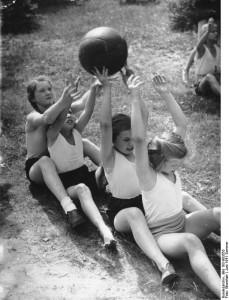 Billed fra en Kinderlandverschickung uden for Berlin, 1941.