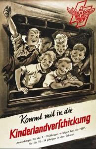 Tysk propagandaplakat: Kom med i Kinderlandvershickung!