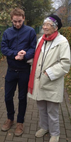 Mig og min mormor, efteråret 2013.