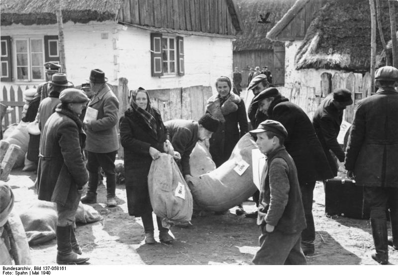 Tyske landmænd flytter ind i tidligere polske bondegårde.