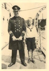 Min oldefar Willy von Nordeck sammen med sønnen Bernd.